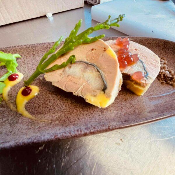 Foie Gras de Canard, cœur d'anguille fumé